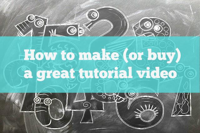 make a tutorial video