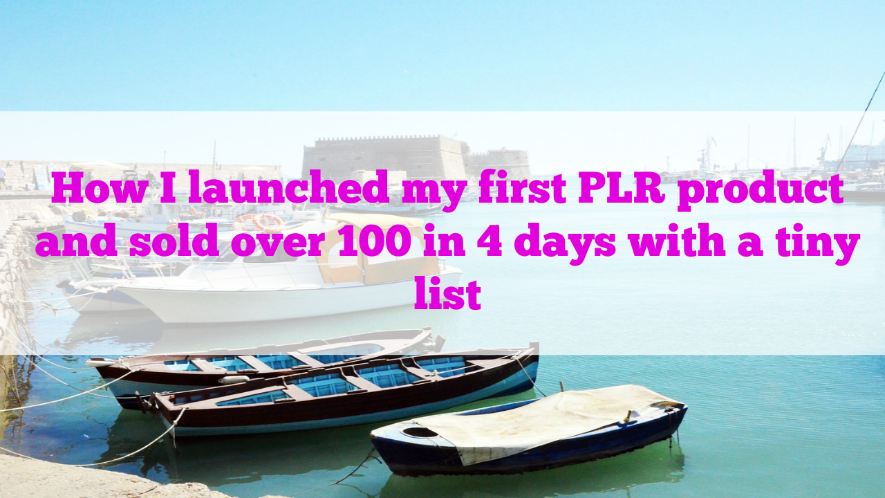 What I learned from my WordPress video PLR product launch last week